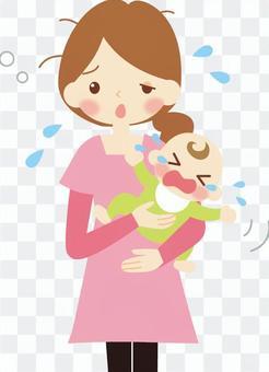 嬰兒在晚上哭泣