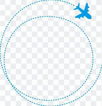 一架飛機的圓形框架