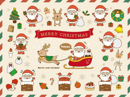 聖誕聖誕老人的材料收集