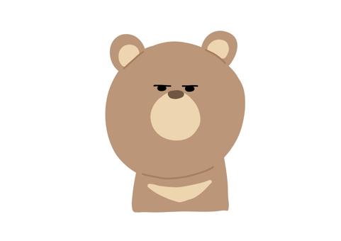 一隻帶著可疑表情的熊
