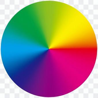 Rainbow colored circular gradation (rainbow)