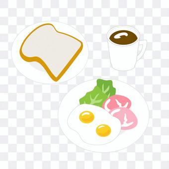 火腿和雞蛋早餐