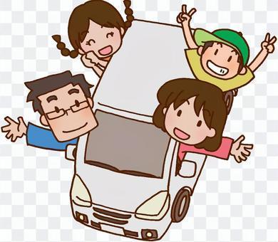 开车/回家/家庭旅行