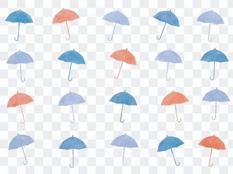 時尚的背景,有很多的遮陽傘