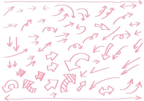 手繪箭頭標記線描插圖集