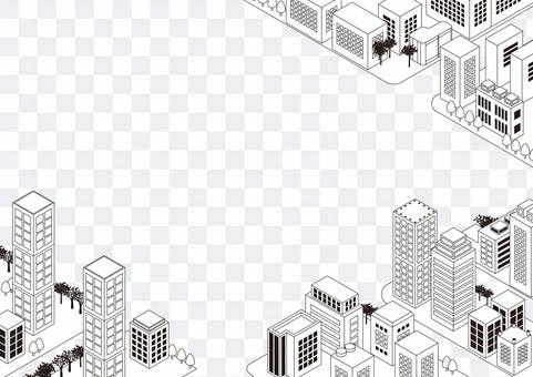 Monochrome city frame of lines 2