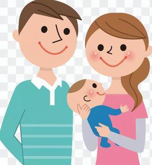 3人家庭(爸爸,妈妈,宝贝)