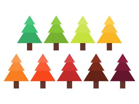 Colorful softwood set