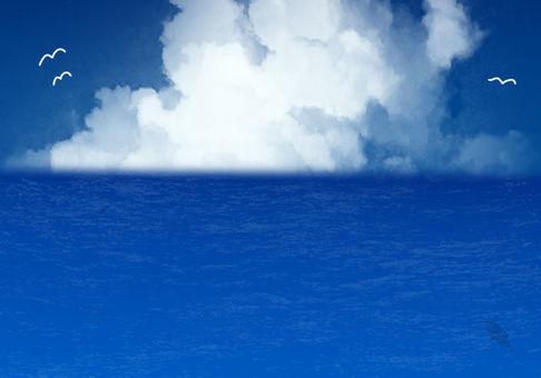 藍藍的天空夏天背景