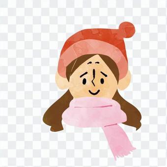 女式針織帽子和圍巾
