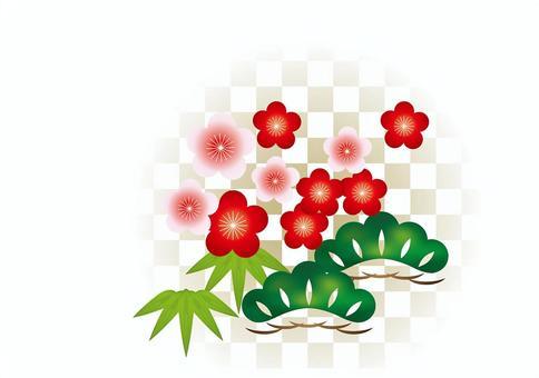 New Year Pattern Shochiku Mei 16