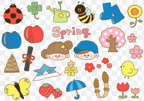 春季單點插圖集