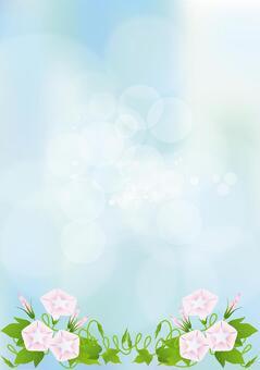 Sky blue & Asagao 10