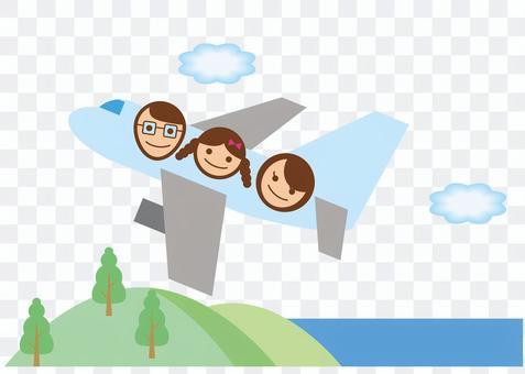 飛行機旅行バナー