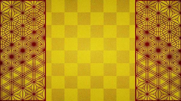 金箔風格棋盤和一對