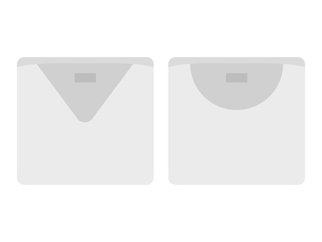 折疊 U/V 領白襯衫