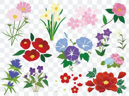 四個季節的花朵