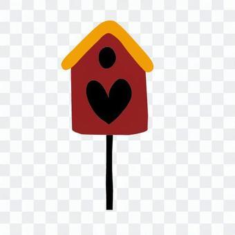 Heart shaped aviary (red)