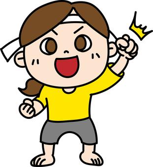 Good luck cheering girl headband