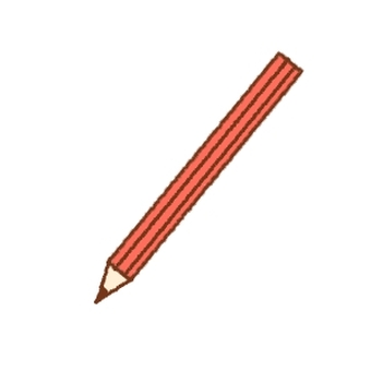 Simple pencil red