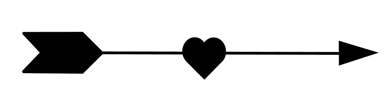 一顆心的箭頭