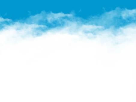 シンプルな雲のフレーム