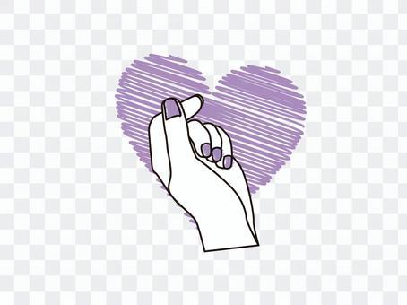 手指心_紫色