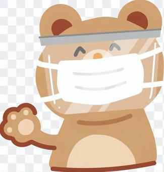 面具上戴著面罩的熊