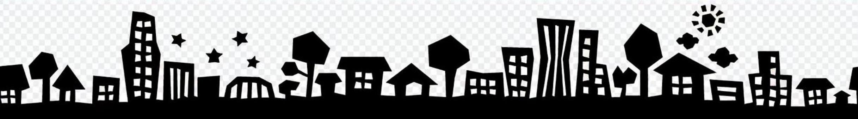 City street silhouette (black)