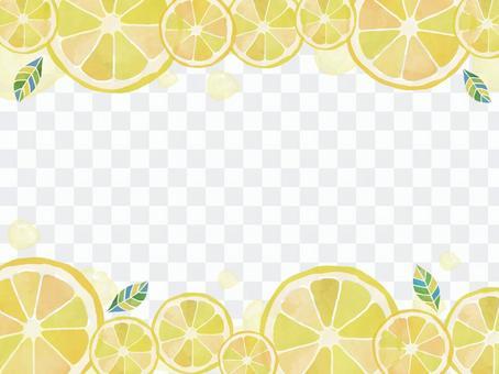 檸檬水彩留言卡