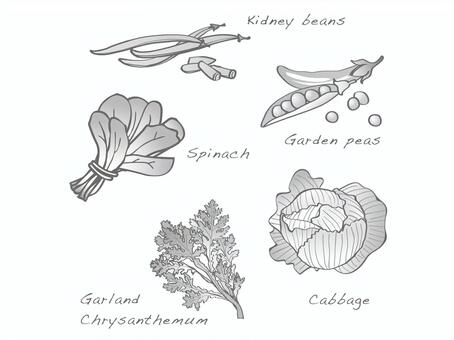 Hand-painted wind vegetables