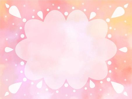 水彩框架雲3