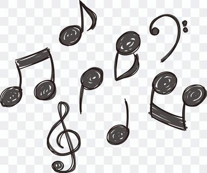 Musical note set 02 - monochrome