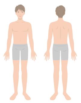 Male body whole body
