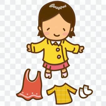 女孩換衣服