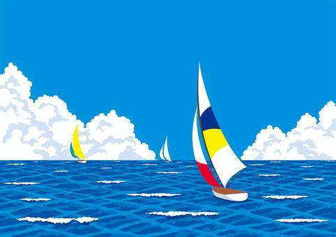 海上游艇夏季小艇夏季