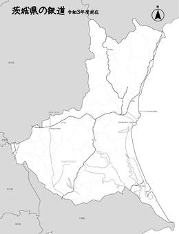 茨城縣地圖日本鐵路軌道黑白