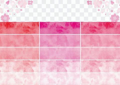 水彩パターンスウォッチ その2 ピンク
