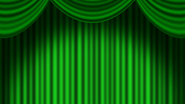 Full HD green stage curtain background