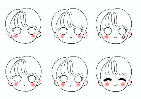 各種面部表情