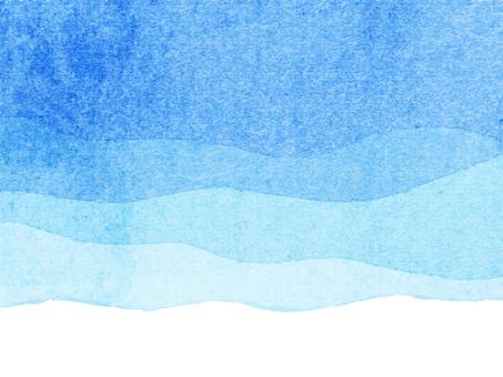 Beautiful watercolor wave gradient background