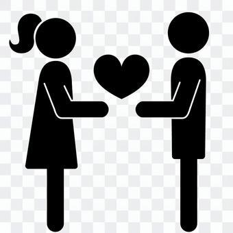 象形圖給予愛