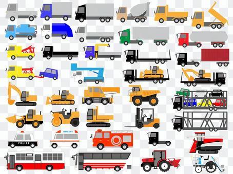 工作車輛(卡車,重型設備,應急車輛等)