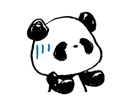 Child panda-upper body-I'm in trouble