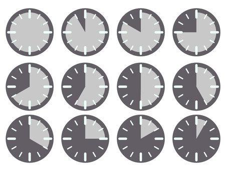 單色計時器插圖集