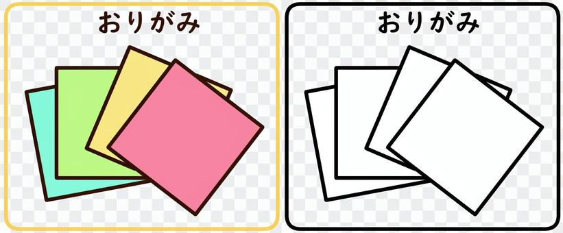 摺紙(帶字母)