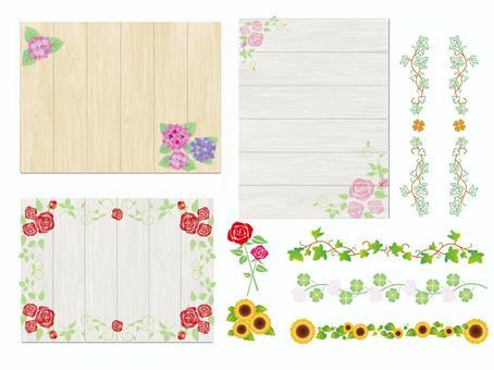 框架季節性花Shiraki