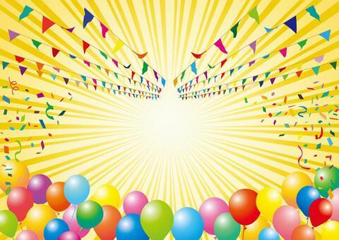 框架邊境氣球五彩紙屑彩虹