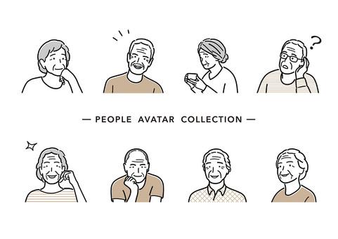簡單的線條畫人物插圖集