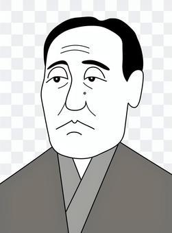 福澤諭吉(黑白)